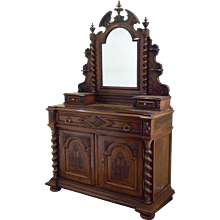 Walnut French Commode or Secretaire
