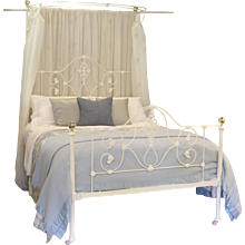 Mid Victorian Half Tester Bed