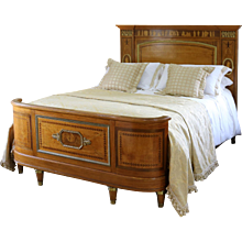 Empire Style Bed with Greco-Roman Inlay Work