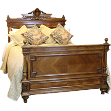 19th Century Walnut Bed