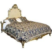 Wide Italian Gilded Rococo Bed - WSK1