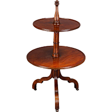 An Exceptional George III Gothic Inspired Mahogany Dumb Waiter Attributed to Mayhew & Ince