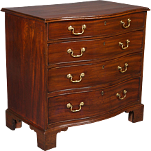 Chippendale Period Mahogany Serpentine Chest of Drawers