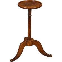 A 18th Century Elm and Oak Candlestand