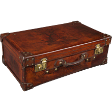 Very Fine 19th Century Leather Suitcase
