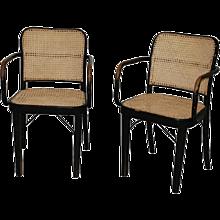 Josef Hoffmann 'A 811 F', a pair of armchairs, Thonet 1930's