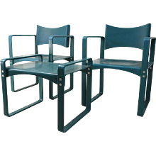 Verner Panton '270 F', a pair of armchairs and stool, Thonet 1965