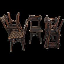Set of six Thonet garden chairs