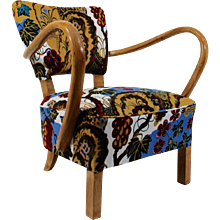 Easy chair 1930's, fabric 'Cave', Josef Frank 1945