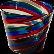 Fulvio Bianconi 'A spirale', vase 1950's