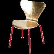 Golden Arne Jacobsen Chair Hand Gilded