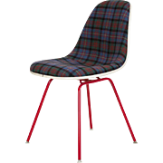 Upholstered Eames Side Chair Tartan