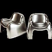 Metallic Sergio Mazza Toga Lounge Chairs