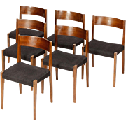 Poul Cadovius Pia Chairs Walnut 1950's