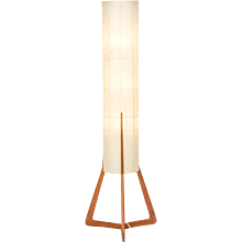 Sculptural Danish Teak Floor Lamp Tripod 1960's