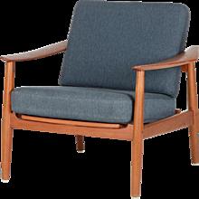 Arne Vodder Teak Lounge Chair Model 164 France & Son