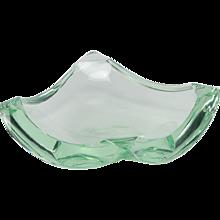 Erwin Burger for Fontana Arte Ashtray Glass 1950's
