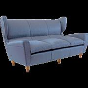 Paolo Buffa Big Wingback Three-Seat Sofa, 1952