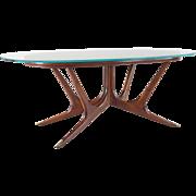 Sculpural Italian Dining Table,attr. Guglielmo Ulrich, circa 1940