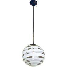 Carlo Scarpa Ceiling Lamp by Venini, 1938
