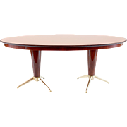 Oval Dining Table Attributed to Melchiorre Bega, circa 1952