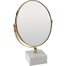 "GIO PONTI vanity mirror ""Fontana Arte"" on white Carrara marble block,1955"