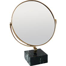 "GIO PONTI vanity mirror ""Fontana Arte"" on green marble block,1955"
