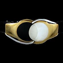 Antonio Pineda 970 Silver Bucklae & Leather Belt