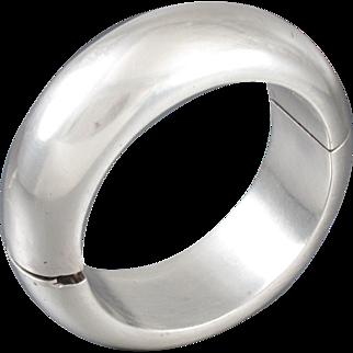Antonio Pineda Bracelet 970 Sterling Silver Hinged Bangle