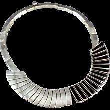 Antonio Pineda Necklace 970 Sterling Silver & Obsidian