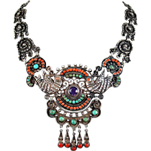 Matilde Poulat MATL Jeweled Palomas Necklace