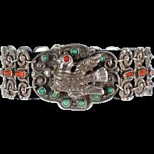 Matilde Poutal Matl Silver, Turquoise, Coral Bracelet