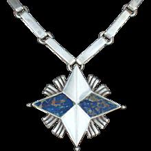 William Spratling Necklace Sterling Silver North Star