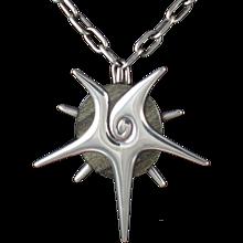 William Spratling Starfish Obsidian & Silver Pendant & Pin 1950's