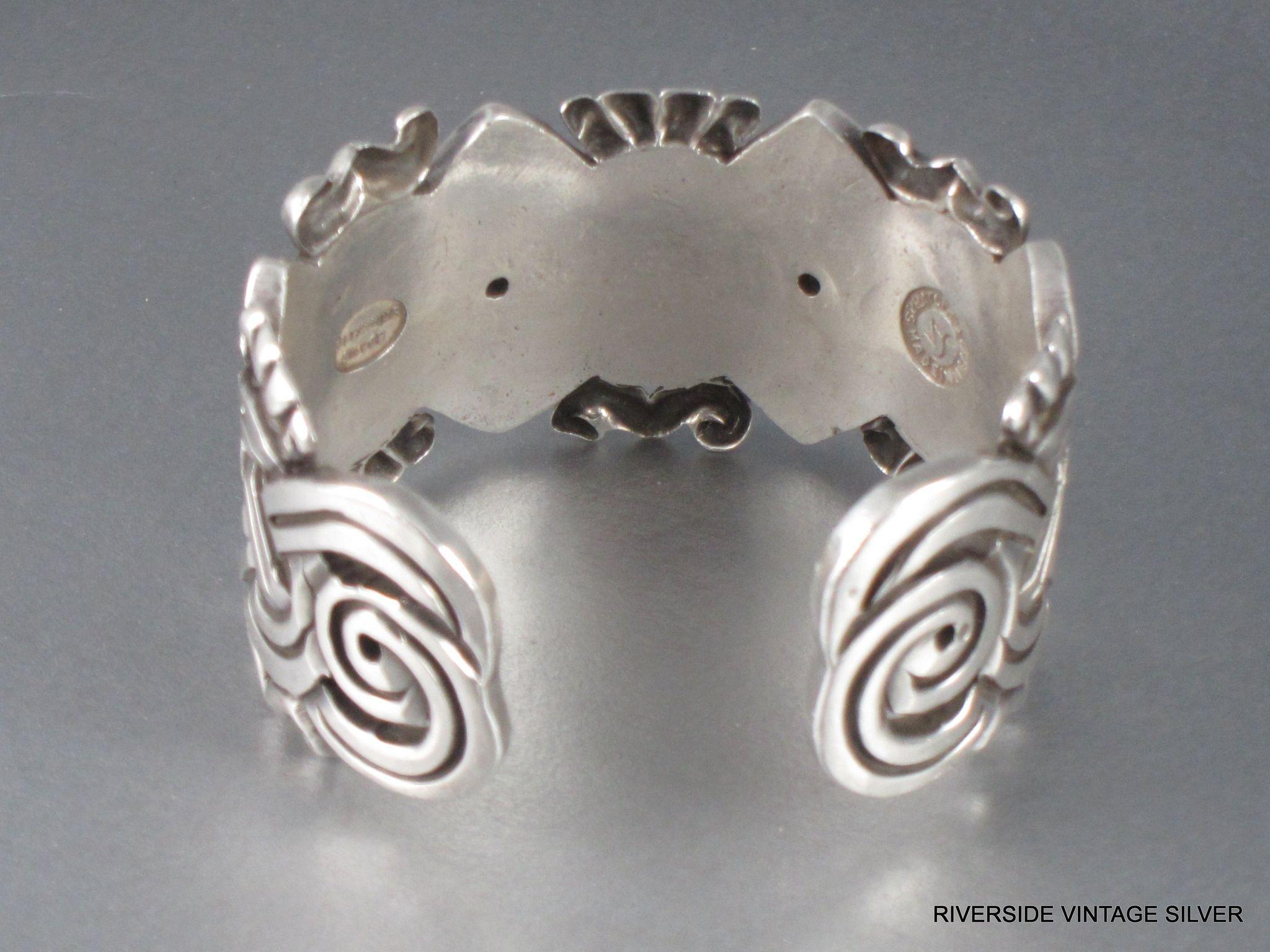 William Spratling Aztec Sterling Silver Cuff Bracelet