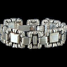 WILLIAM SPRATLING Silver Crowned Pyramid Bracelet