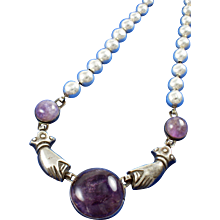 WILLIAM SPRATLING VINTAGE AMETHYST NECKLACE