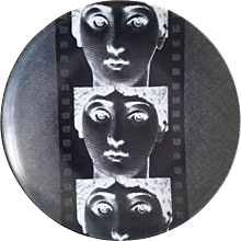 Fornasetti Tema E Variazioni Plate, Number 272, the iconic image of  Lina Cavalieri, Atelier Fornasetti.