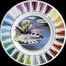An English Porcelain Blythe Artist Colour Sample Plate.