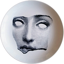 Vintage Piero Fornasetti Lina Cavalieri Tema E Variazioni Plate, #64.