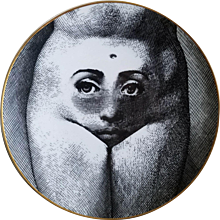 Rosenthal Fornasetti Temi e Variazioni Motiv 19 Plate, 1980s.