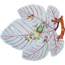 First Period Worcester Porcelain Leaf Dish, Circa 1765-70.