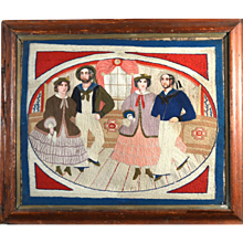 Sailor's Woolwork of Sailors and Companions Dancing, Circa 1865-75
