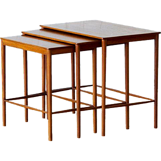 Set of Mid-century Scandinavian Teak Nesting Tables,  Grete Jalk for P.Jeppesens Møbelsnedkeri, Circa 1970.