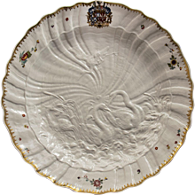 Great Meissen Armorial Dish from the Swan Service