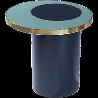 Side Table Nenuphar blue