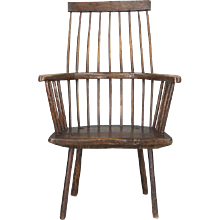 A Primitive Welsh Lobster-Pot Windsor Armchair, Circa 1800