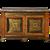 A Regency Brass-Inlaid Pollard Oak and Ebony Side Cabinet, circa 1820