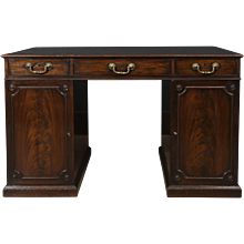 Excellent Mahogany Chippendale Partners Desk, Circa 1770