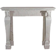 A French (Or Italian) Directoire Period Marble Fireplace Mantel